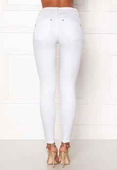 Happy Holly Karen jeans White Bubbleroom.dk