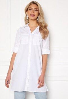 Happy Holly Katrina long shirt White Bubbleroom.dk