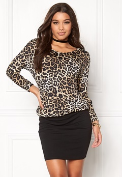 Happy Holly Katya dress Leopard / Black Bubbleroom.dk