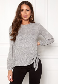 Happy Holly Kelly top Grey melange Bubbleroom.dk