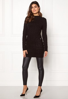 Happy Holly Kira cable sweater dress Black Bubbleroom.dk