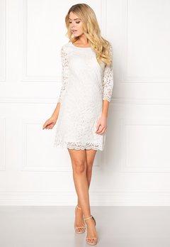 Happy Holly Lina lace dress Offwhite Bubbleroom.dk