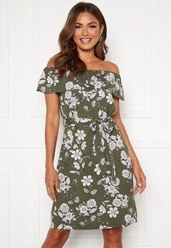 Happy Holly Layla dress Khaki green / Patterned Bubbleroom.dk