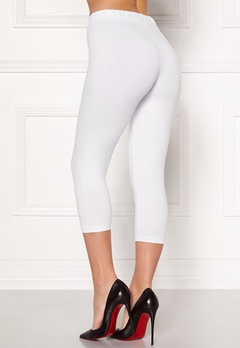 Happy Holly Beata Crop leggings Black / White Bubbleroom.dk