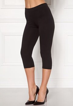 Happy Holly Beata Crop leggings Black Bubbleroom.dk