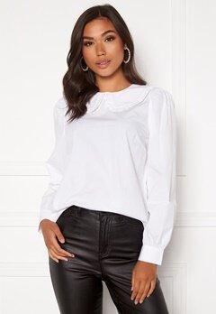 Happy Holly Leona blouse White Bubbleroom.dk