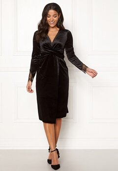 Happy Holly Leonora velvet dress Black Bubbleroom.dk