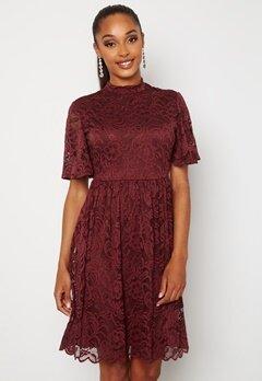 Happy Holly Li lace dress Wine-red bubbleroom.dk