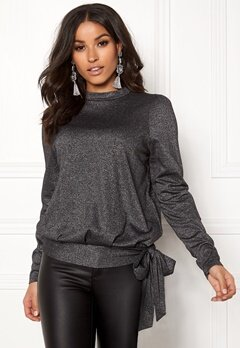 Happy Holly Lily lurex top Black / Silver Bubbleroom.dk