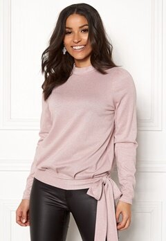 Happy Holly Lily lurex top Pink / Silver Bubbleroom.dk
