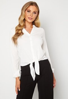 Happy Holly Lina knot blouse Offwhite bubbleroom.dk