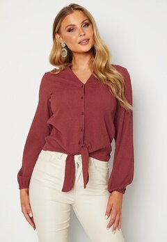 Happy Holly Lina knot blouse Pink Bubbleroom.dk
