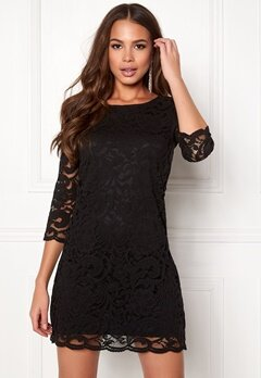 Happy Holly Lina lace dress Black Bubbleroom.dk