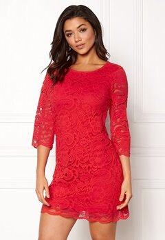 Happy Holly Lina lace dress Red Bubbleroom.dk