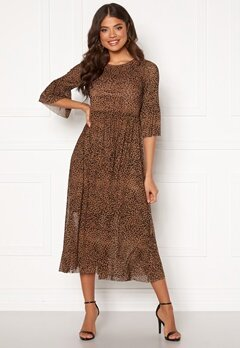 Happy Holly Lina mesh dress Leopard Bubbleroom.dk
