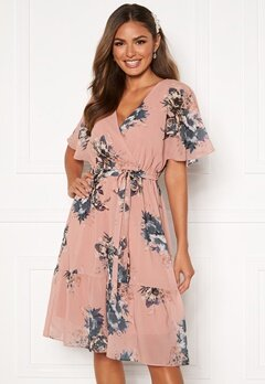 Happy Holly Linnea midi dress Dusty pink / Patterned Bubbleroom.dk