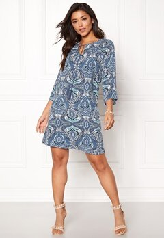 Happy Holly Livia dress Blue / Patterned Bubbleroom.dk