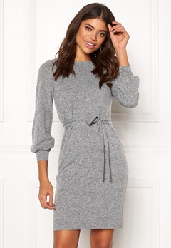 Happy Holly Liz dress Grey melange Bubbleroom.dk