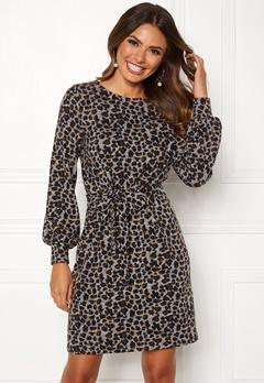 Happy Holly Liz cozy dress Leopard Bubbleroom.dk