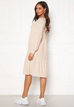 Happy Holly Liz flounce dress Light beige / Melange Bubbleroom.dk
