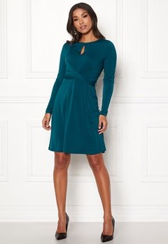 Happy Holly Lucy dress Petrol-blue Bubbleroom.dk