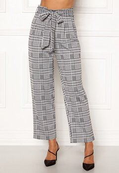 Happy Holly Luna paperbag wide pants Checked Bubbleroom.dk