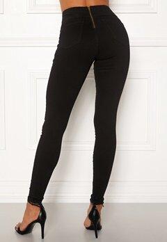 Happy Holly Lyra zip pants Black Bubbleroom.dk