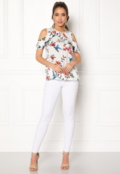 Happy Holly Maddy top Offwhite / Patterned Bubbleroom.dk