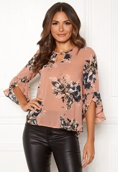 Happy Holly Madelyn Blouse Pink / Patterned Bubbleroom.dk