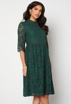 Happy Holly Madison lace dress Dark green Bubbleroom.dk