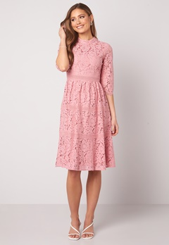 Happy Holly Madison lace dress Dusty pink Bubbleroom.dk
