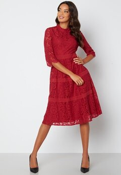 Happy Holly Madison lace dress Red bubbleroom.dk