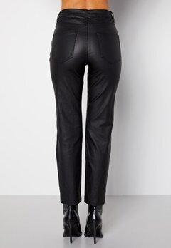 Happy Holly Maja coated pants Black bubbleroom.dk