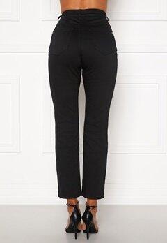 Happy Holly Maja high waist jeans Black Bubbleroom.dk