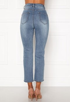 Happy Holly Maja high waist jeans Light denim Bubbleroom.dk