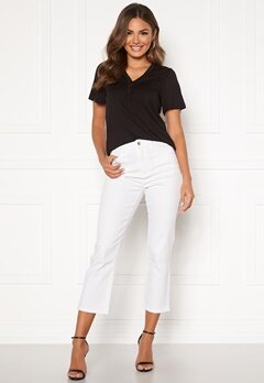 Happy Holly Maja high waist jeans White Bubbleroom.dk