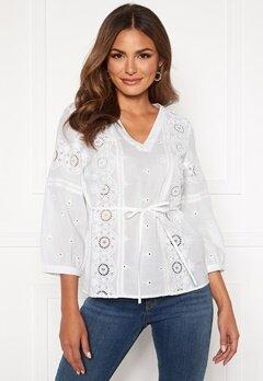 Happy Holly Majken blouse White Bubbleroom.dk