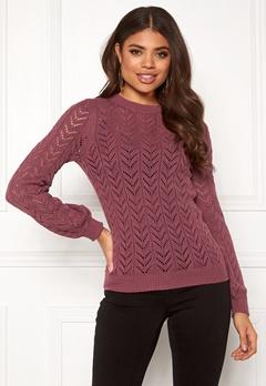 Happy Holly Malinda sweater Dark heather pink Bubbleroom.dk