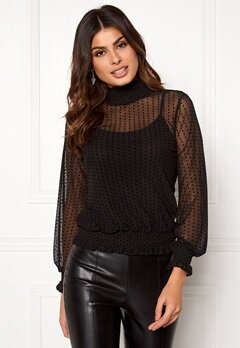 Happy Holly Mandy mesh top Black Bubbleroom.dk