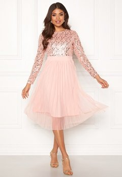 Happy Holly Mandy dress Dusty pink Bubbleroom.dk