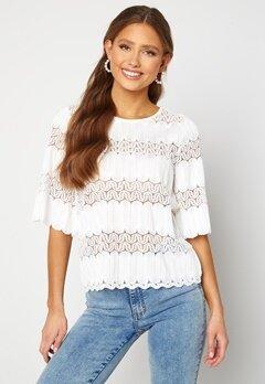 Happy Holly Maria kimono sleeve top White Bubbleroom.dk