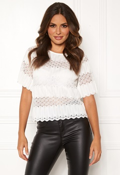 Happy Holly Maria lace top White Bubbleroom.dk