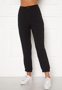 Happy Holly Maria woven pants Black Bubbleroom.dk