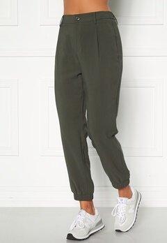 Happy Holly Maria woven pants Khaki green Bubbleroom.dk