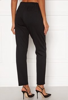 Happy Holly Mathilda high waist tricot pants Black Bubbleroom.dk