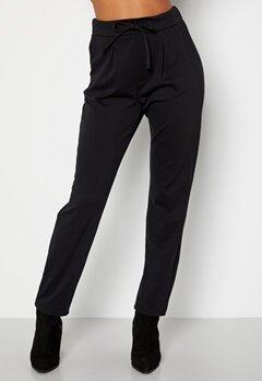 Happy Holly Mathilda high waist tricot pants Black bubbleroom.dk