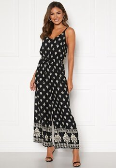 Happy Holly Matilda strap jumpsuit Black / Patterned Bubbleroom.dk