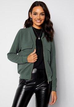 Happy Holly Maya pocket jacket Dusty green bubbleroom.dk
