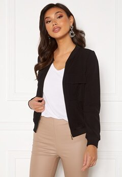 Happy Holly Maya pocket jacket Black Bubbleroom.dk