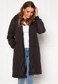 Happy Holly Melanie quilted hood jacket Black Bubbleroom.dk